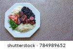 feijoada   typical brazilian... | Shutterstock . vector #784989652