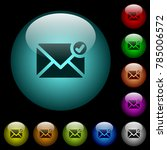 mail sent icons in color...   Shutterstock .eps vector #785006572