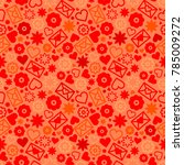 valentines day red seamless...   Shutterstock .eps vector #785009272