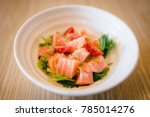 japanese food   spicy salmon... | Shutterstock . vector #785014276