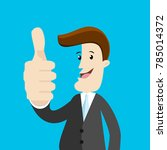 businessman smiling and thumb... | Shutterstock .eps vector #785014372