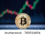 bitcoin physical coin symbol on ...   Shutterstock . vector #785016856