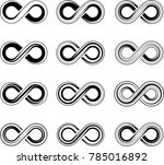 infinity sign collection raster ... | Shutterstock . vector #785016892