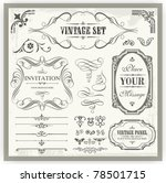 vintage ornamental and page... | Shutterstock .eps vector #78501715