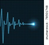 abstract heart beats cardiogram ... | Shutterstock .eps vector #78501748