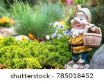 Garden Gnome In English Garden
