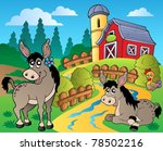 country scene with red barn 8   ... | Shutterstock .eps vector #78502216