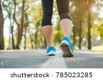 young fitness woman legs...   Shutterstock . vector #785023285
