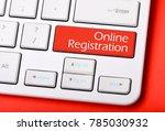 online registration   laptop...   Shutterstock . vector #785030932