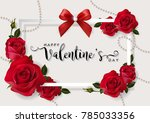 valentine's day greeting card... | Shutterstock .eps vector #785033356