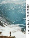 traveling backpacker adventure... | Shutterstock . vector #785033488