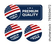 made in usa america  flyer ... | Shutterstock .eps vector #785034472