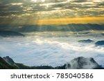crepuscular sun rays during... | Shutterstock . vector #785040586