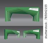 simple gate entrance modern... | Shutterstock .eps vector #785042155