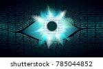 big brother electronic eye... | Shutterstock .eps vector #785044852