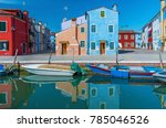 colorful house in burano island ... | Shutterstock . vector #785046526