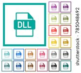 dll file format flat color... | Shutterstock .eps vector #785048692