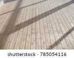 wooden floor with white walls | Shutterstock . vector #785054116