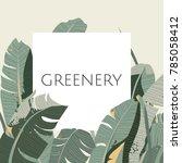 greeting invitation card design ... | Shutterstock .eps vector #785058412