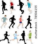 runners   vector | Shutterstock .eps vector #78506155