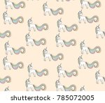 seamlessly pattern with unicorn | Shutterstock . vector #785072005