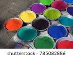colorful powders for sale in... | Shutterstock . vector #785082886