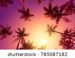 Vivid Warm Tropical Sunset Wit...