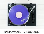 turntable vinyl record player...   Shutterstock . vector #785090032