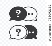 question mark and chat icon in... | Shutterstock .eps vector #785092192