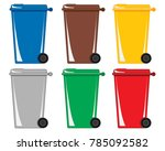 an illustration of six colorful ... | Shutterstock . vector #785092582
