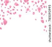 falling sakura leaves on white... | Shutterstock .eps vector #785093995