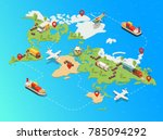 isometric global logistic... | Shutterstock .eps vector #785094292