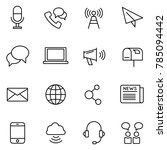 communication vector icons.... | Shutterstock .eps vector #785094442