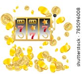 casino. golden slot machine... | Shutterstock .eps vector #785096008