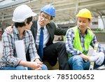 engineer discuss with team... | Shutterstock . vector #785100652