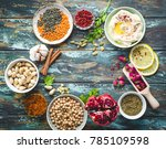 arab ingredients for middle... | Shutterstock . vector #785109598