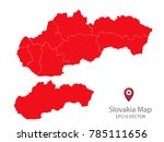 couple set map red map of... | Shutterstock .eps vector #785111656