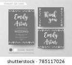 wedding invite  gray color... | Shutterstock .eps vector #785117026