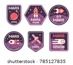 a set of labels fly to mars.... | Shutterstock .eps vector #785127835