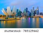 singapore skyscraper central... | Shutterstock . vector #785129662