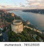 aerial view of rumeli castle...   Shutterstock . vector #785135035