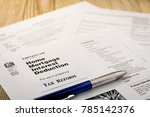 tax reform concept with tax... | Shutterstock . vector #785142376