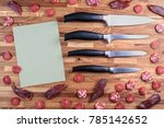 Four Kitchen Knife Lying On The ...