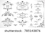 set of flourish frames  borders ... | Shutterstock .eps vector #785143876