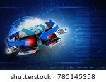 3d rendering computer network | Shutterstock . vector #785145358