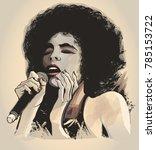 afro american jazz singer  ...   Shutterstock .eps vector #785153722