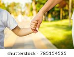 cropped close up of a boy and... | Shutterstock . vector #785154535