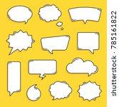 various text bubble | Shutterstock .eps vector #785161822