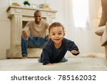 happy childhood. happy dark... | Shutterstock . vector #785162032