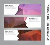 abstract geometric banners | Shutterstock .eps vector #785170582